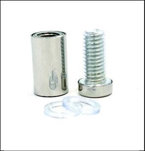 Дистанционный держатель 12х25 мм серебро глянец