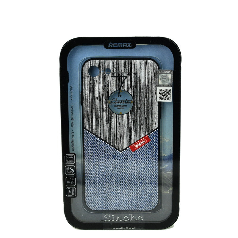 Чехол для Apple iPhone 7 back cover Remax RM-279 jeans