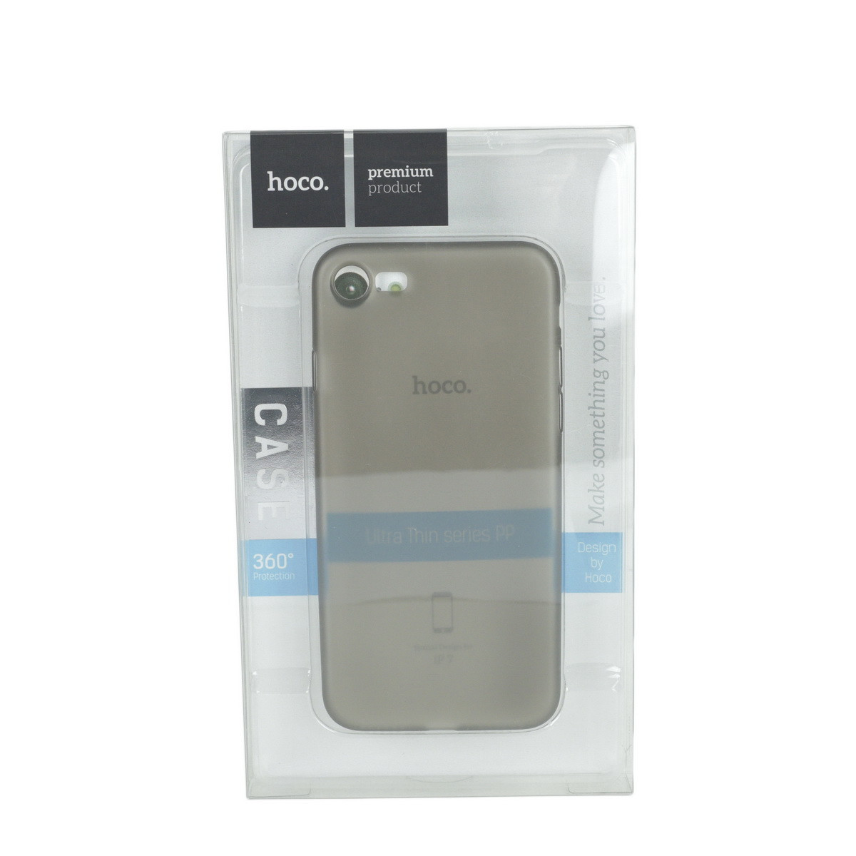 Чехол для Apple iPhone 7 back cover Hoco Frosted Soft shell matte plastic Gray
