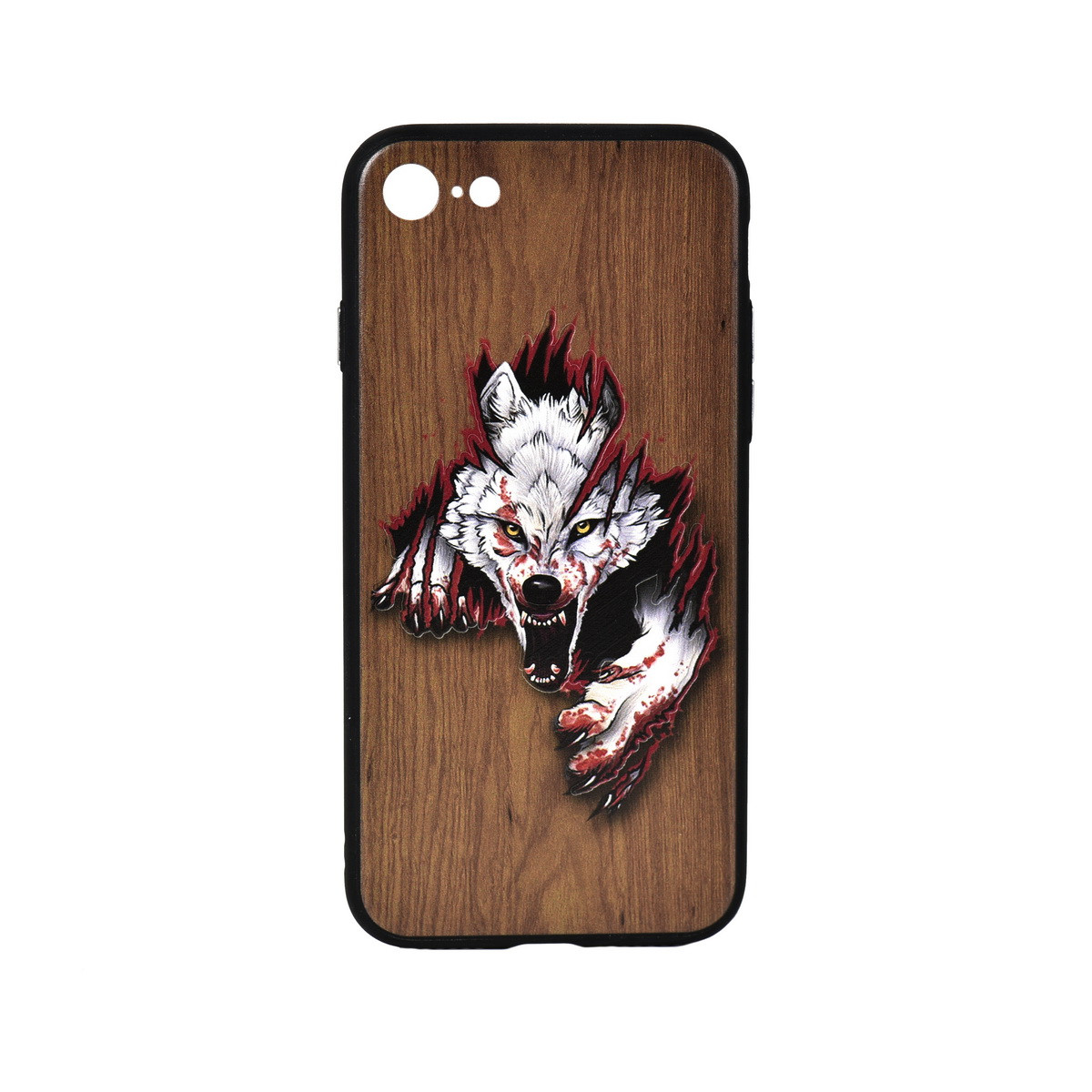 Чехол для Apple iPhone 7 back cover Oucase Wolf Wood Brown/White/Red