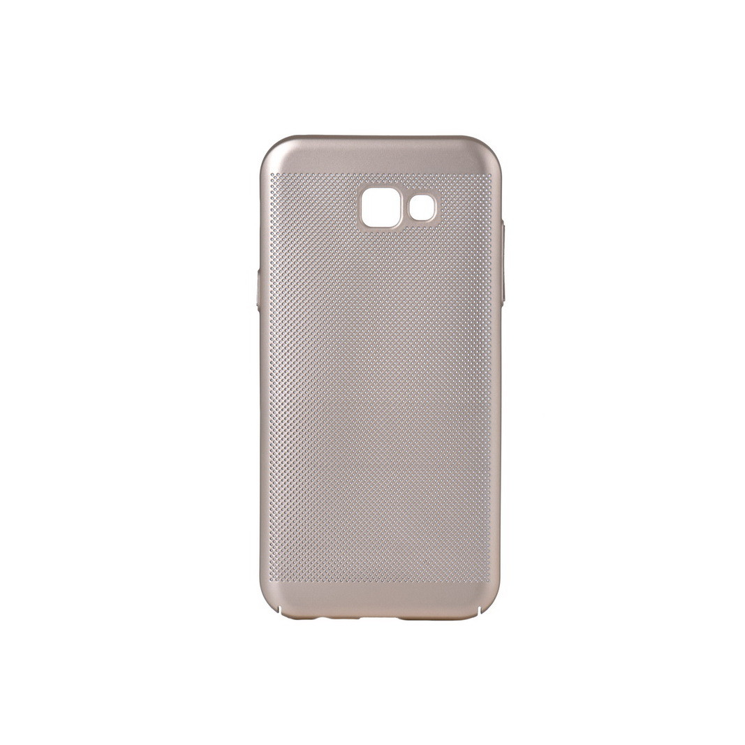Чехол для Samsung Galaxy A7 (2017) A720 back cover JZZS netting plastic Gold