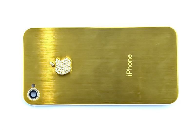Задняя крышка Apple iPhone 4G cristal Gold/White (69)