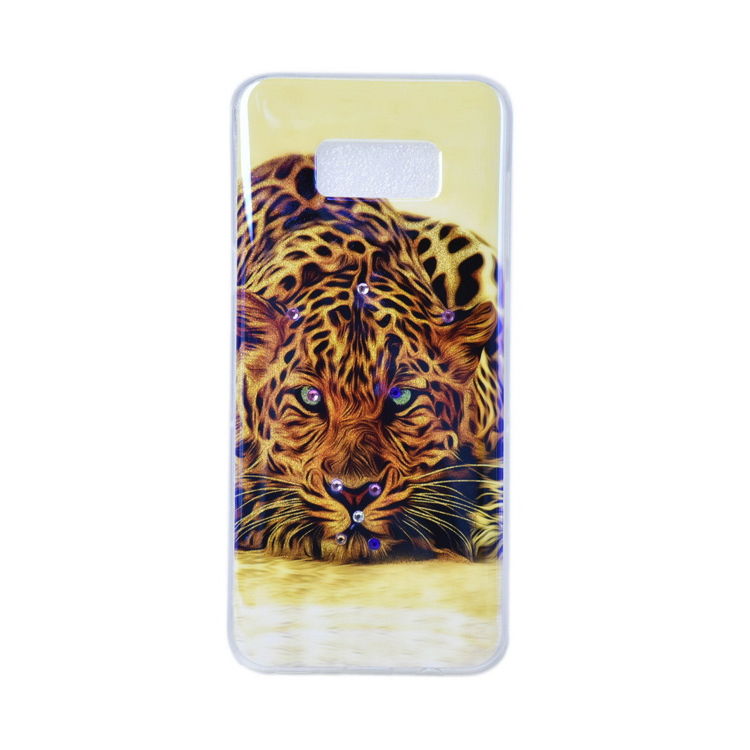 Чехол для Samsung Galaxy S8 Plus G955 back cover Tiger ChameLion gel Beige/Orange