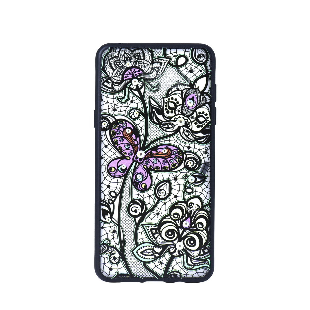 Чехол для Samsung Galaxy A5 (2016) A510 back cover Purple butterfly Swarovski gel Gray/Yellow/Black