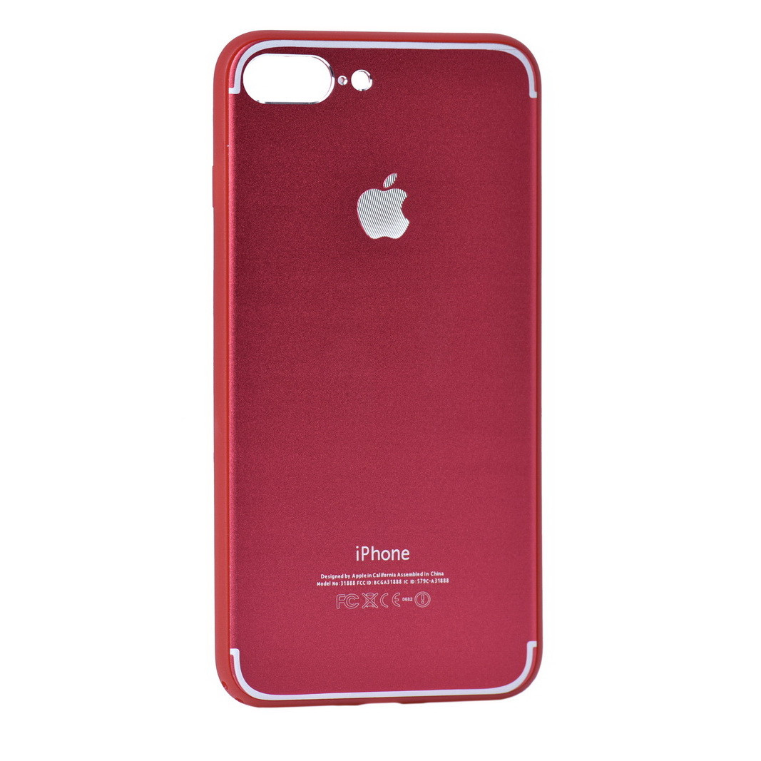 Чехол для Apple iPhone 7 Plus back cover A31888 Plastic Red/Silver