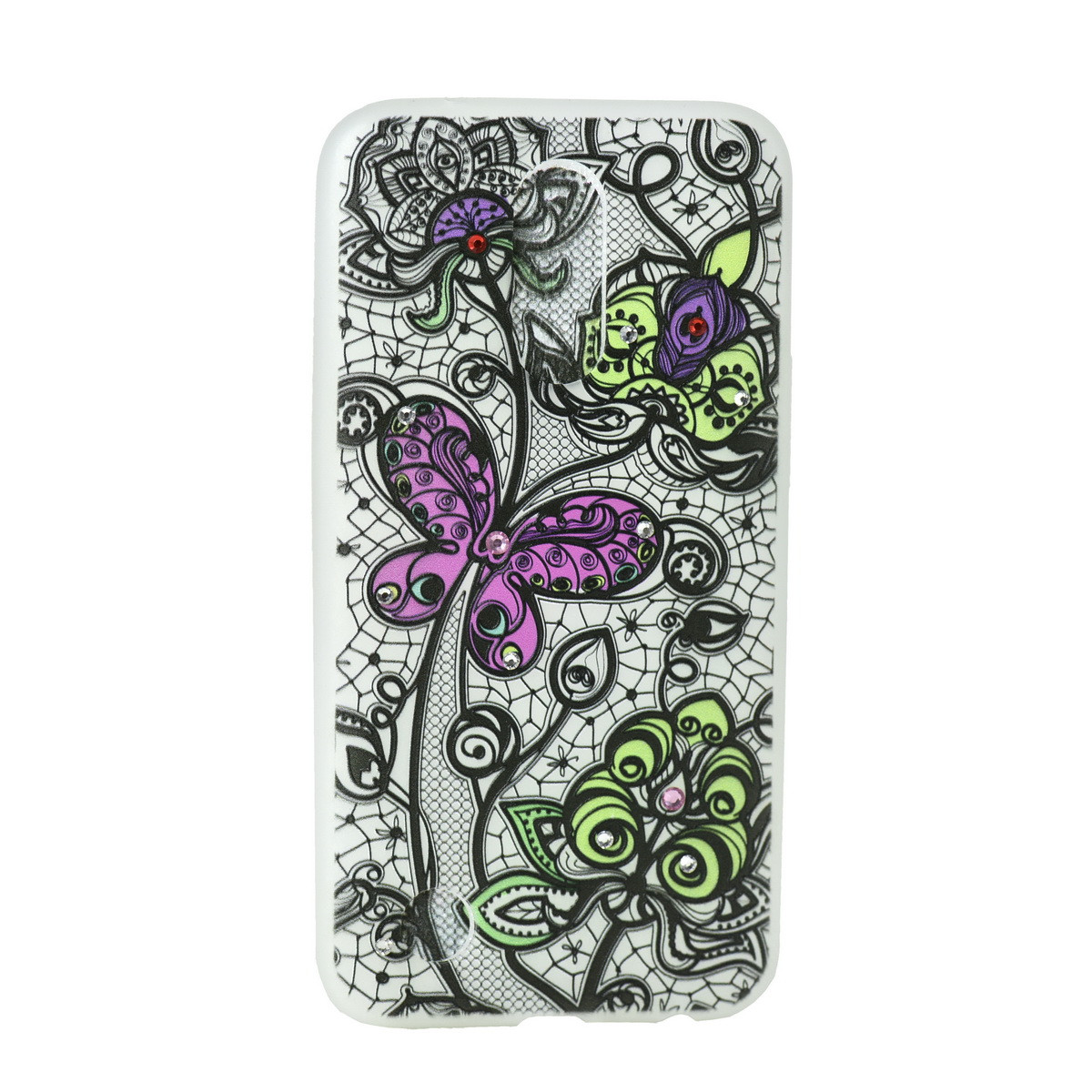 Чехол для LG K10 (2017) M250 back cover Protective Case Buttefly Clear/mix color