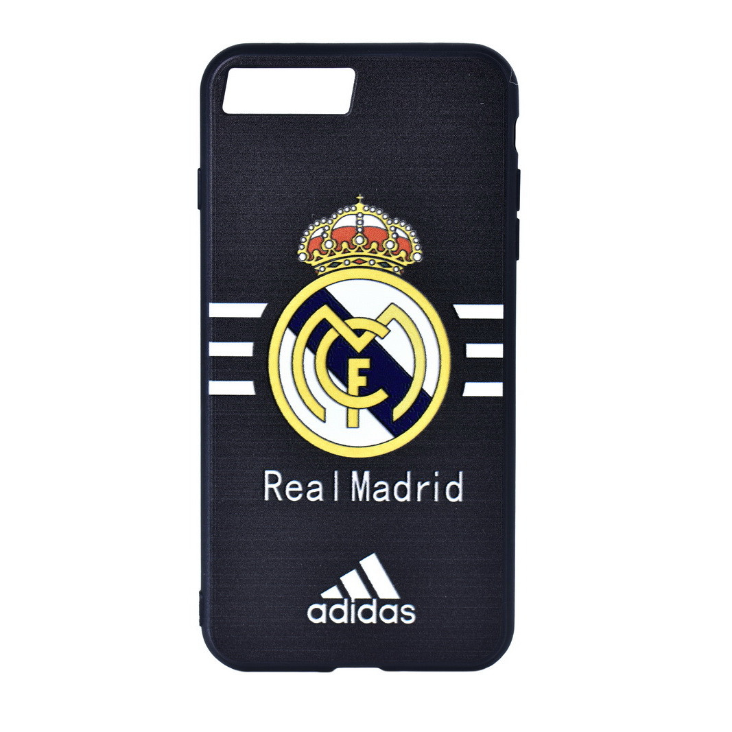 Чехол для Apple iPhone 7 Plus back cover WK Real Madrid Adidas plastic Black/White