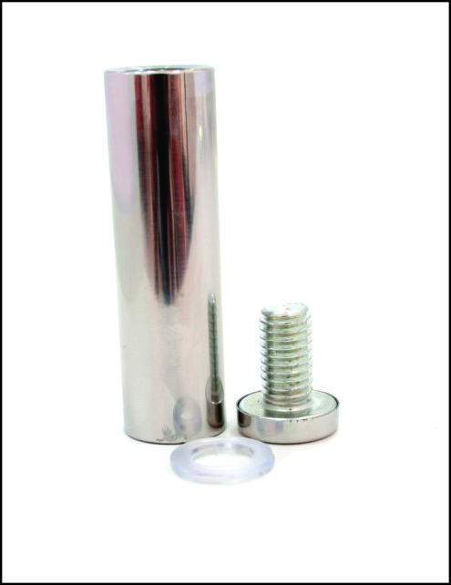 Дистанционный держатель 19х70 мм серебро глянец