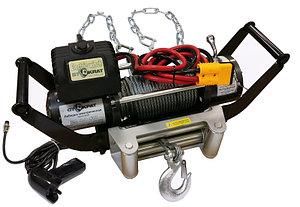 Лебедка электрическая переносная для внедорожников СТОКРАТ LD 9.0 S 12V с цепным подвесом.