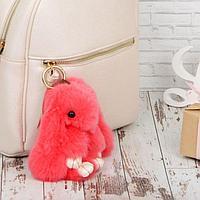 """Брелок пушистик """"Крольчонок розовый"""" 17х10х7 см, фото 1"""