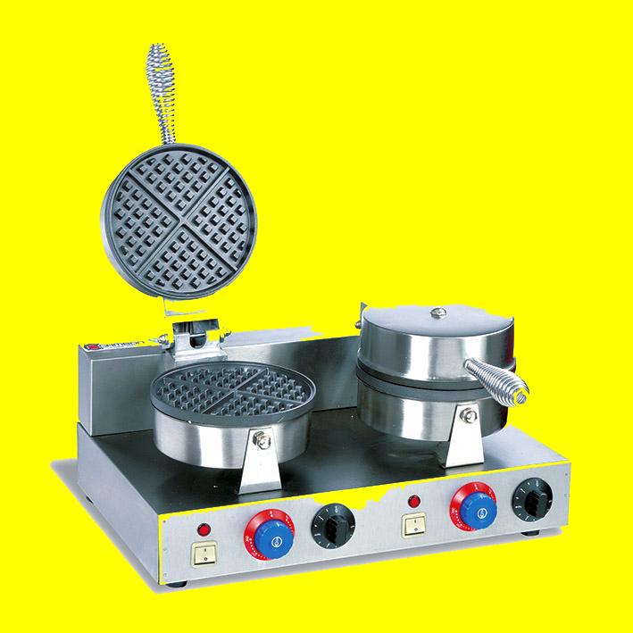 Вафельница двойная для приготовления треугольных венских вафель