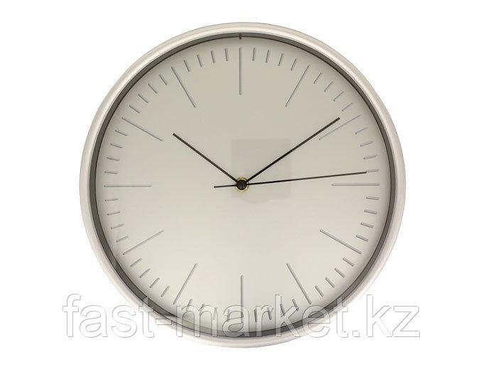 Настенные часы серебристые пластиковые