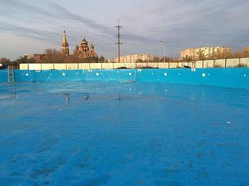 "Укладка ПВХ пленки ""Декопран"" для бассейна, аквапарк в г. Актобе 2"