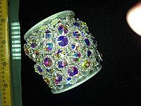 Стразовая лента радужные кристаллы