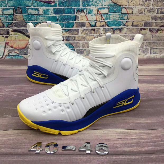 Баскетбольные кроссовки Under Armour Curry four IV ( 4 ) from Stephen Curry white with blue