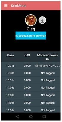 В приложении каждый пользователь может посмотреть историю своих тестов