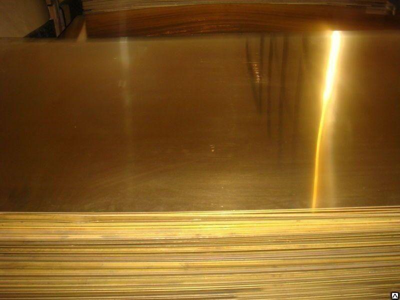 Лист латунный 6х600х1500мм ЛС59-1 Л63