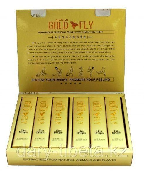 Женский возбудитель GOLD FLY ( Шпанская Мушка) 12 шт. Возбуждающие капли для женщин