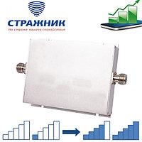Усилитель сотового сигнала двухдиапазонный, Стражник GSM-900, DCS-1800, 100м2