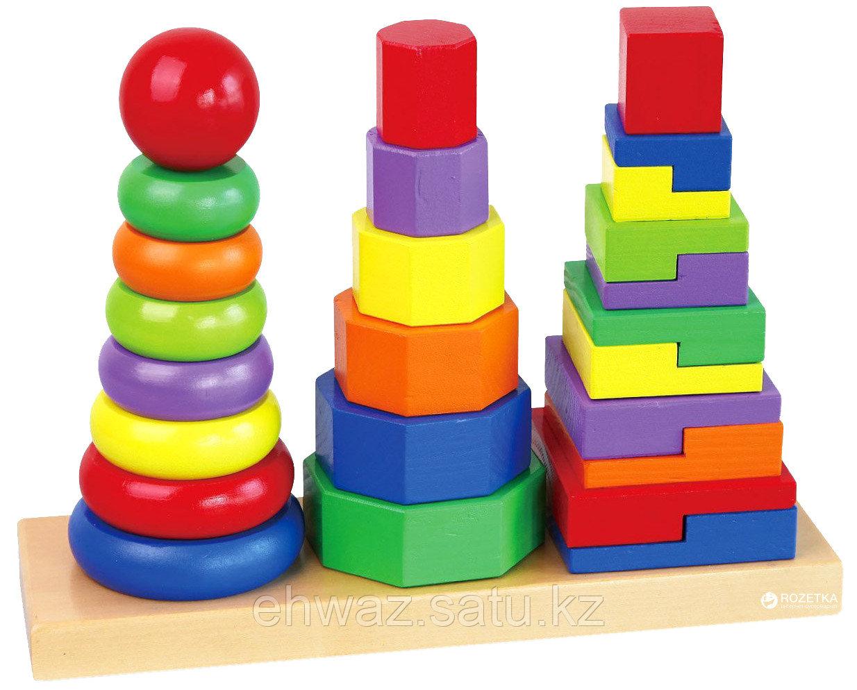 Деревянный конструктор для малышей «Пирамидки»