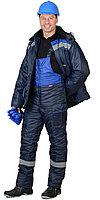 """Спецодежда зимняя Костюм """"Стройград-2"""" зимний: куртка дл., п/к синий с васильковым и СОП, фото 1"""