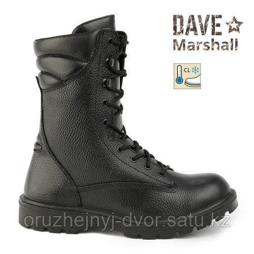 Ботинки с высоким берцем утепленные ATTACK SB-8 AL,кожа натур, цв.Черн.