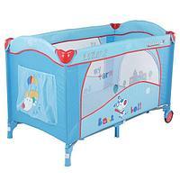Спально-игровой манеж-кровать с пеленатором и дугой Quatro Lulu 2