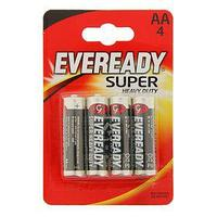 Солевая батарейка Eveready Super Heavy Duty, АА, R6-4BL, блистер, 4 шт. (комплект из 3 шт.)