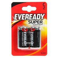 Батарейка СолеваяEveready Super Heavy Duty, C, R14-2BL, блистер, 2шт. (комплект из 4 шт.)