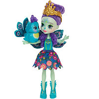 Mattel Enchantimals Игровая Кукла Пэттер Павлина, 15 см