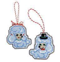 """Набор для вышивания крестом """"Новогодние игрушки. Собачки"""""""