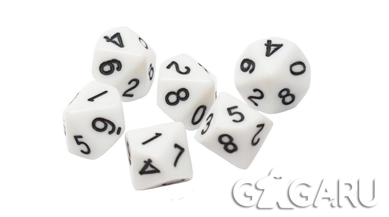 Кубик GaGa D10, белый