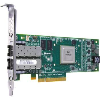 QLOGIC QLE8152 10GB DUAL PORT PCI-E COPPER CNA HOST BUS ADAPTER WITH STANDARD BRACKET CARD ONLY. SYSTEM PULL.