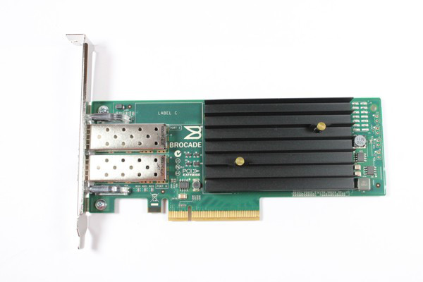 DELL FDYMF BROCADE 1020 10GB DUAL PORT PCI-E 2.0 X8 CONVERGED NETWORK ADAPTER. SYSTEM PULL.