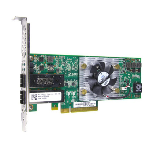 DELL GDP1H 10GB DUAL-PORT PCI-E X8 CNA ADAPTER FOR МОЩНОСТЬEDGE BLADE SERVER. SYSTEM PULL.