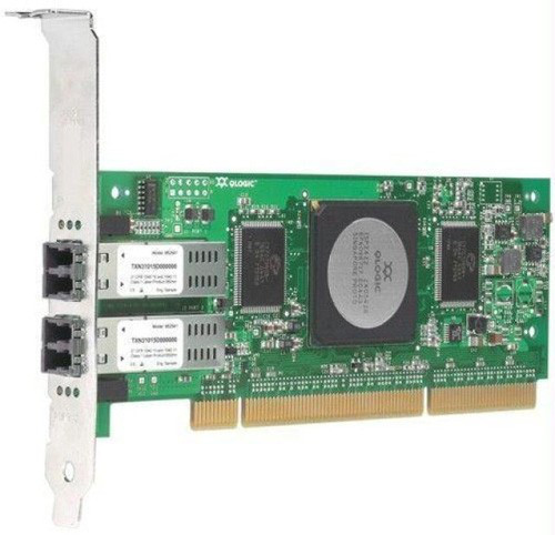 QLOGIC - 4GB SANBLADE DUAL PORT PCI-X FIBRE CHANNEL HOST BUS ADAPTER (FC2410401-33) WITH STANDARD BRACKET.