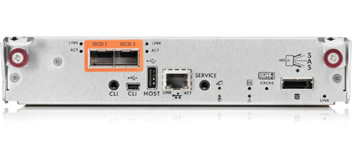 HP 592261-001 STORAGEWORKS P2000 G3 8GB DUAL PORT FIBRE CHANNEL MSA CONTROLLER.
