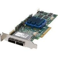 ADAPTEC 2252200-R 8 CHANNEL PCI EXPRESS X4 SATA/SAS LOW PROFILE RAID CONTROLLER R0HS WITH 128MB CACHE.