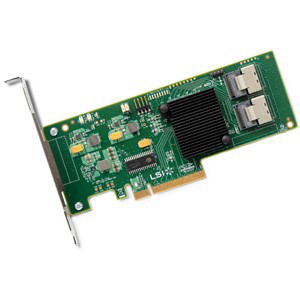 LSI LOGIC H5-25249-01 9211-8I 6GB 8PORT INTERNAL PCI-EXPRESS X8 SAS RAID CONTROLLER WITH LP BRACKET. NEW FACTORY SEALED.