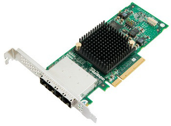 ADAPTEC 2278500-R 70165H SINGLE 6GB/S 4EXT PORT PCI-E 3.0 X8 SAS/SATA RAID CONTROLLER.
