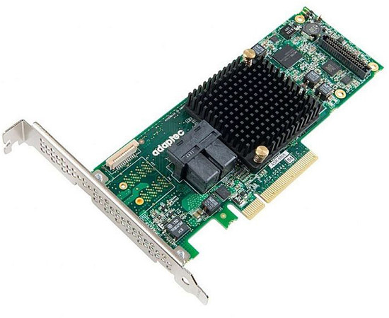 ADAPTEC ASR-8805 8805 SINGLE 12GB/S PCI EXPRESS 3.0 X8 SAS RAID CONTROLLER CARD ONLY. NEW FACTORY SEALED.