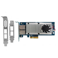 QNAP LAN-10G2T-X550 DUAL-PORT 10GBASE-T NETWORK EXPANSION CARD FOR TOWER AND RACKMOUNT. NEW FACTORY SEALED.