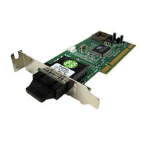 DELL CW595 TRANSITION NETWORKS 100BASE-FX LOW-PROFILE 10/100MBPS PCI NETWORK CARD.