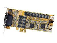 STARTECH - 16 PORT LOW PROFILE RS232 PCI EXPRESS SERIAL CARD - CABLE INCLUDED - SERIAL ADAPTER (PEX16S952LP). NEW FACTORY SEALED.