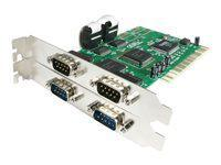 STARTECH - 4 PORT PCI RS232 SERIAL ADAPTER CARD WITH 16550 UART - SERIAL ADAPTER(PCI4S550N). NEW FACTORY SEALED.
