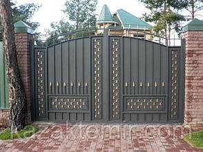 Металлические ворота распашные, фото 2