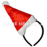 "Новогодний ободок шапка ""Санта Клаус"""