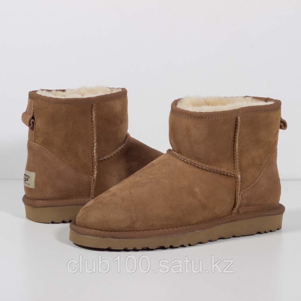 Угги UGG Classic Low Light Brown  - CLUB100 - Кроссовки Алматы. SNEAKERTOWN в Алматы