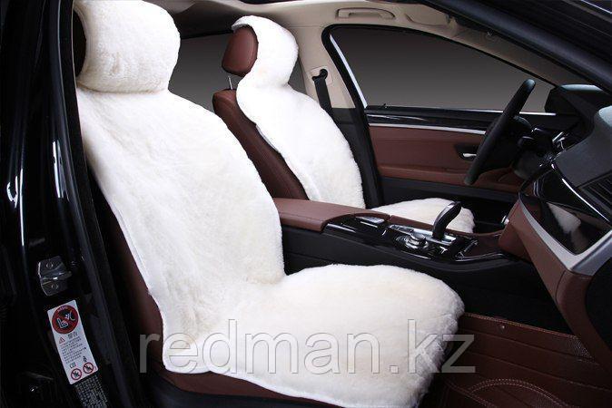 Меховые накидки из овечьей шерсти в авто (комплект, передние и задние)