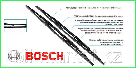 BOSCH Комплект стеклоочистителей Twin 650/550mm (539) - BMW 5 E39, фото 2